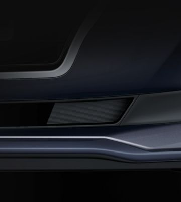 Picture of the unique front bumper on the new Hyundai i30 Fastback.