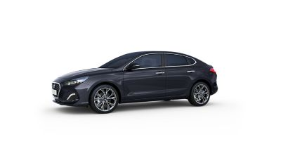 Side view of the all-new Hyundai i30 Fastback.