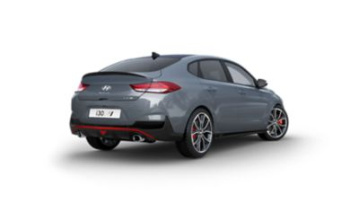 Photo showing the rear of the Hyundai i30 Fastback N.