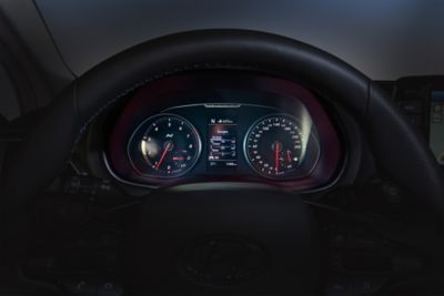 The performance N instrument cluster in the Hyundai i30 Fastback N.