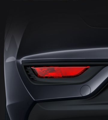 Picture of the rear reflectors and fog lamps in the new Hyundai i30 Fastback.