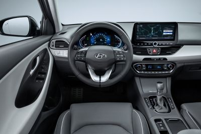 image of the new Hyundai i30 interior from the driver's perspective