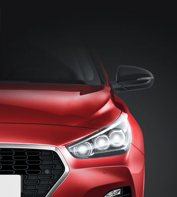 The LED combination lamps on the new Hyundai i30 Wagon.
