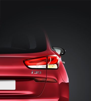 The distinctive rear combination lights on the new Hyundai i30 Wagon.