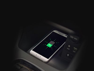 The wireless charging pad on the new Hyundai i30 Wagon.