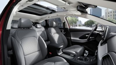 A panoramic view of the new Hyundai i30 Wagon's spacious interior.