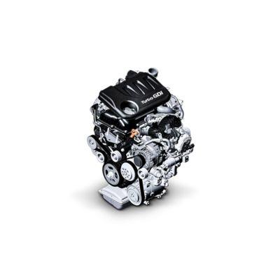 Imagen del motor de gasolina 1.0 GDi del nuevo Hyundai i30 cw.