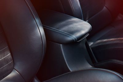 The Hyundai i30 N features a comfortable front armrest.