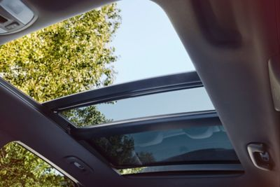 A photo of the panorama sunroof available in the Hyundai i30 N.