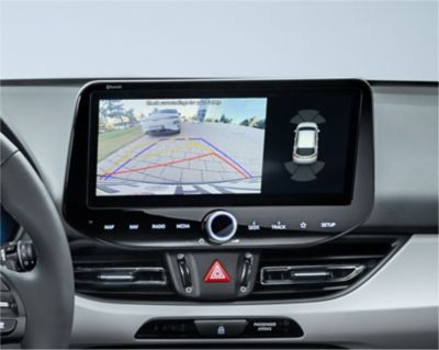 The rear view camera of the new Hyundai i30.