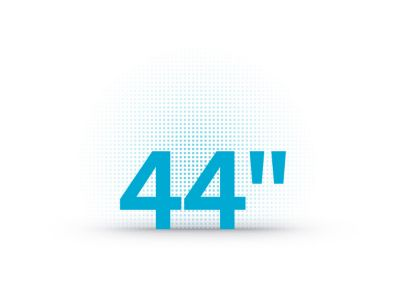The 44'' advanced head-up displayicon of the HyundaiIONIQ 5 midsize CUV.