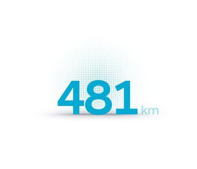 The Hyundai IONIQ 5 electric midsize CUV has a 481 km driving range.