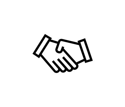 Icon of a handshake.