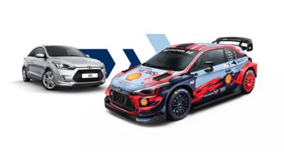 Hyundai i20 and i20 N models side by side