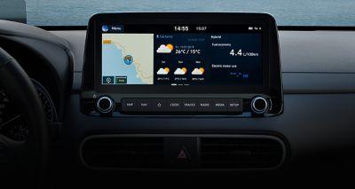 "Nowy Hyundai KONA Hybrid ekran 25"""