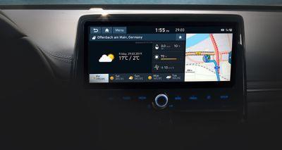 Ekran dotykowy 10,25 cala w Hyundaiu IONIQ Hybrid.