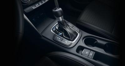 Nowy Hyundai KONA Hybrid środkowa konsola.