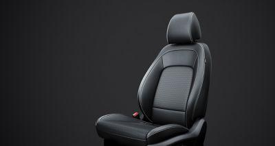 Immagine del sedile con sistema di riscaldamento e raffreddamento di Kona Hybrid