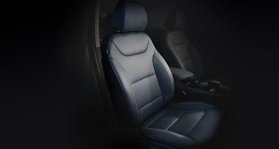 Photo of the seats inside the new Hyundai IONIQ Electric.