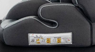 Detail na sedák autosedačky Premium Isofix