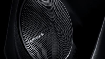 A speaker of the KRELL sound system in the all-new Hyundai Kona Electric.