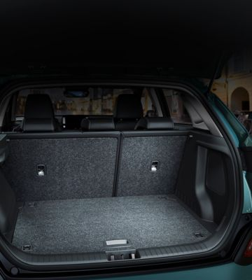 An image of the large trunk capacity of the all-new Hyundai Kona Electric.