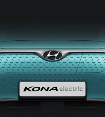 The closed grille on the all-new Hyundai Kona Electric.