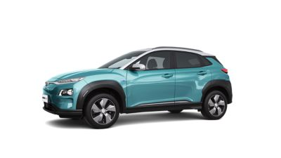 The all-new Kona Electric in profile.