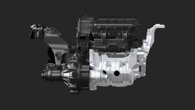 Image of the electric motor in the all-new Hyundai Kona Electric.
