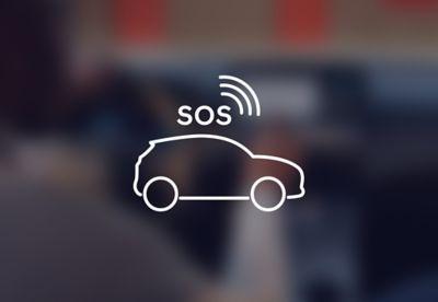 E-call effettua automaticamente chiamate di emergenza in caso di incidente in Nuova Hyundai Kona Electric.