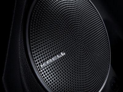 Dettaglio dello speaker Krell Premium Sound System di Nuova Hyundai Kona Electric.