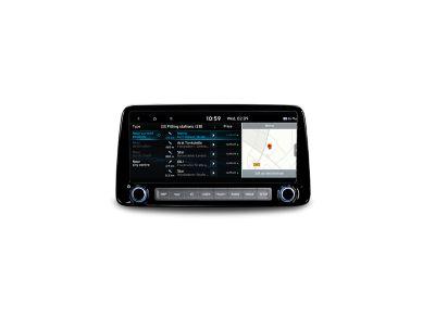 Aktualne ceny paliw na 10,25-calowym ekranie Nowego Hyundaia KONA.