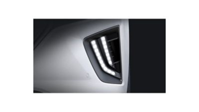 Luci di marcia diurna a LED di Nuova Hyundai Ioniq Electric.