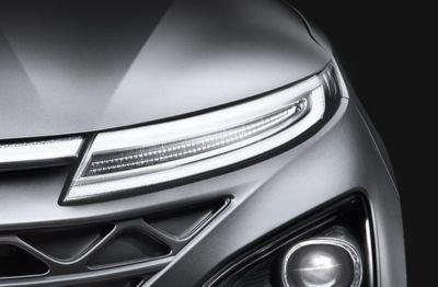 Imagen del aerodinámico diseño del nuevo Hyundai NEXO.