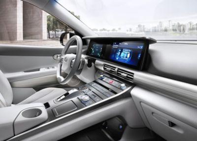 Wnętrze modelu Hyundaiu Nexo.