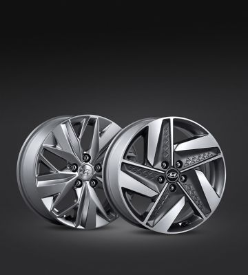 Photo of the all-new Hyundai Nexo's alloy wheels.
