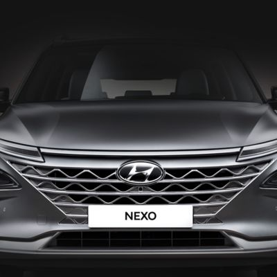 Photo showing the cascading grille of the all-new Hyundai Nexo.