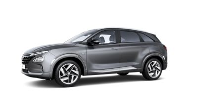 A side view of the all-new Hyundai Nexo, showing its characteristic design lines.