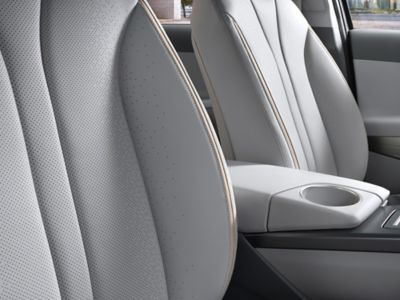 Photo showing the eco-friendly fabric of the all-new Nexo's seats.