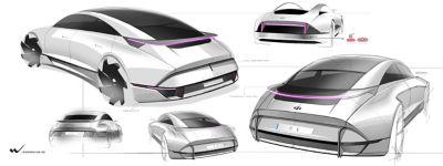 Szkice modelu Hyundai.