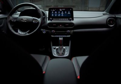 The interior design of the cockpit of the all-new Hyundai Kona N Line.