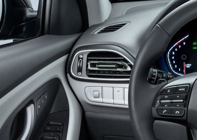 Close-up of the refined air vents in the Hyundai i30 Fastback