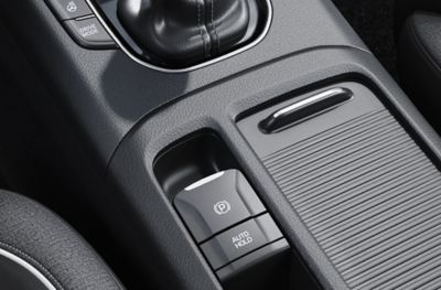 Control element of the Electronic Parking Brake (EPB) in the new Hyundai i30