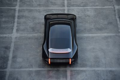 Hyundai Propehcys utforming sett ovenfra. Foto.