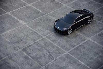 Samochód koncepcyjny Prophecy - widziany z góry