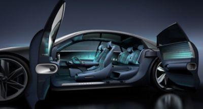 Komputerowy obraz modelu 3D koncepcyjnego samochodu Hyundai