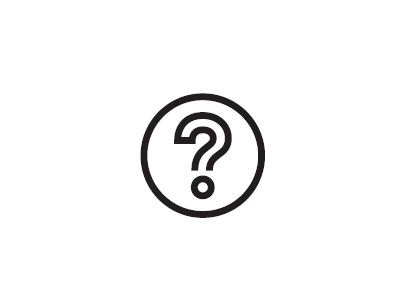 Icon of a questionmark.