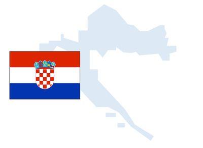 flag and outline of Croatia.