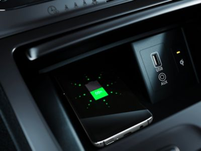 Immagine del Caricatore wireless di Nuova Hyundai Kona Electric.