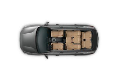 Grafika prezentująca moc 230 KM osiąganą przez Nowego Hyundaia SANTA FE Hybrid